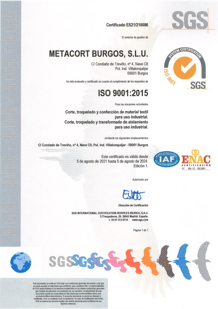 Certificado ISO9001:2015